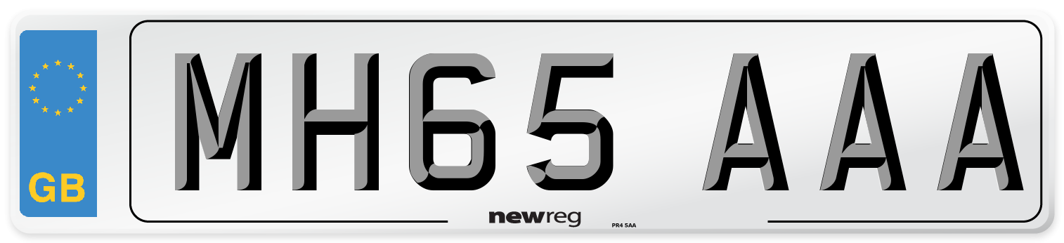 MH65 AAA Number Plate from New Reg