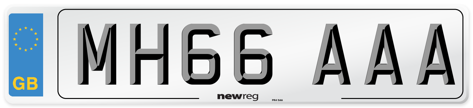 MH66 AAA Number Plate from New Reg