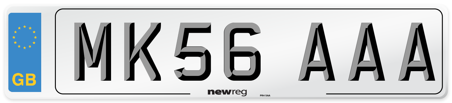 MK56 AAA Number Plate from New Reg