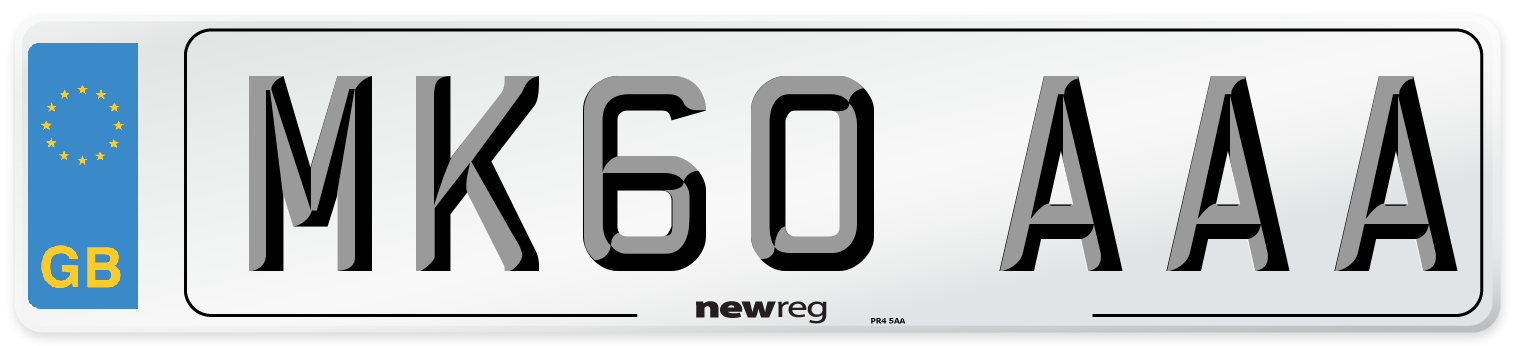 MK60 AAA Number Plate from New Reg