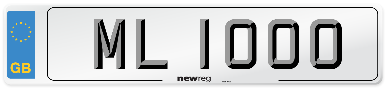 ML 1000 Number Plate from New Reg