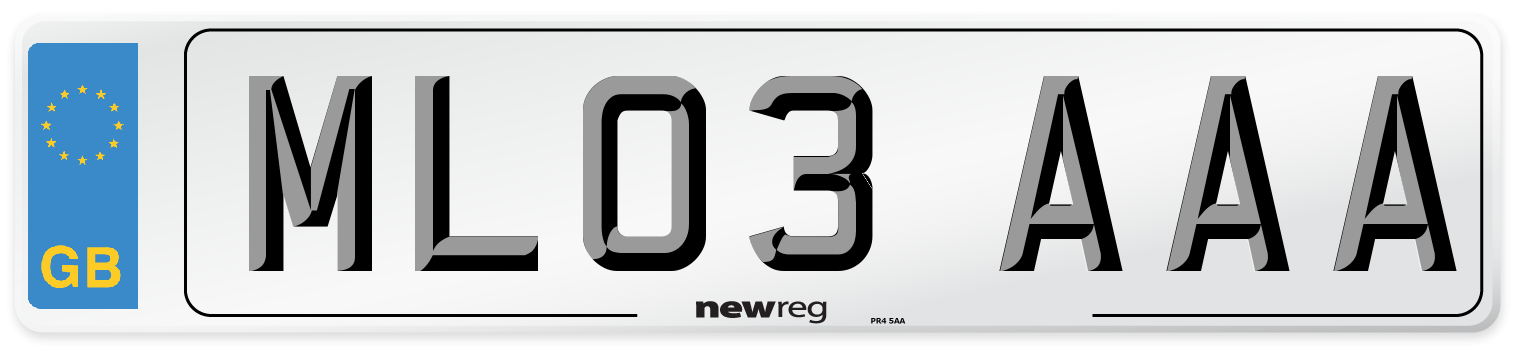 ML03 AAA Number Plate from New Reg