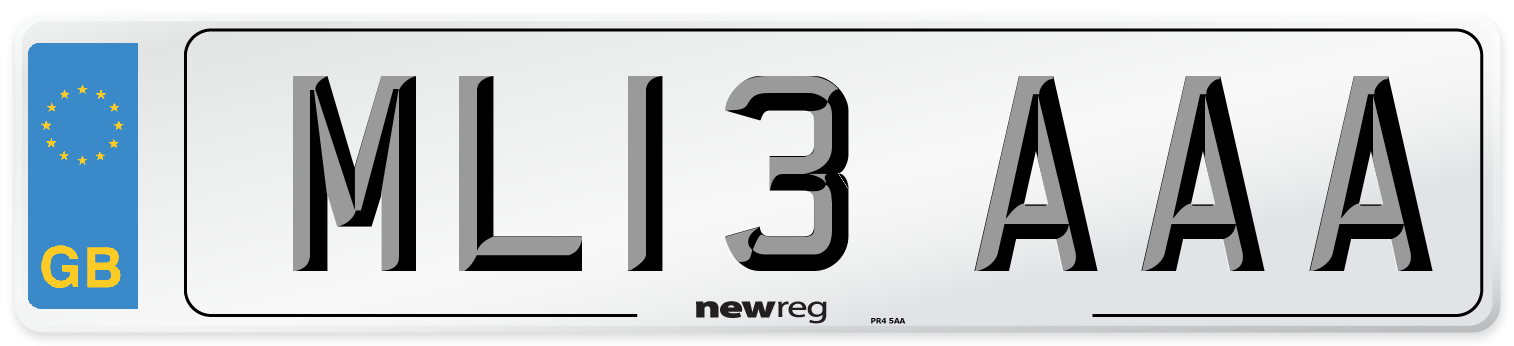 ML13 AAA Number Plate from New Reg