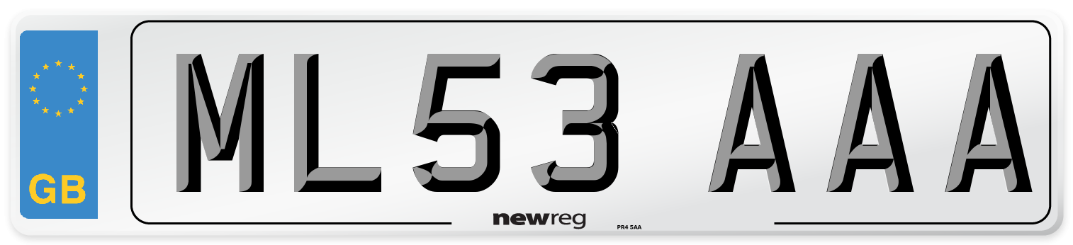 ML53 AAA Number Plate from New Reg