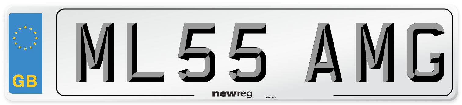 ML55 AMG Number Plate from New Reg
