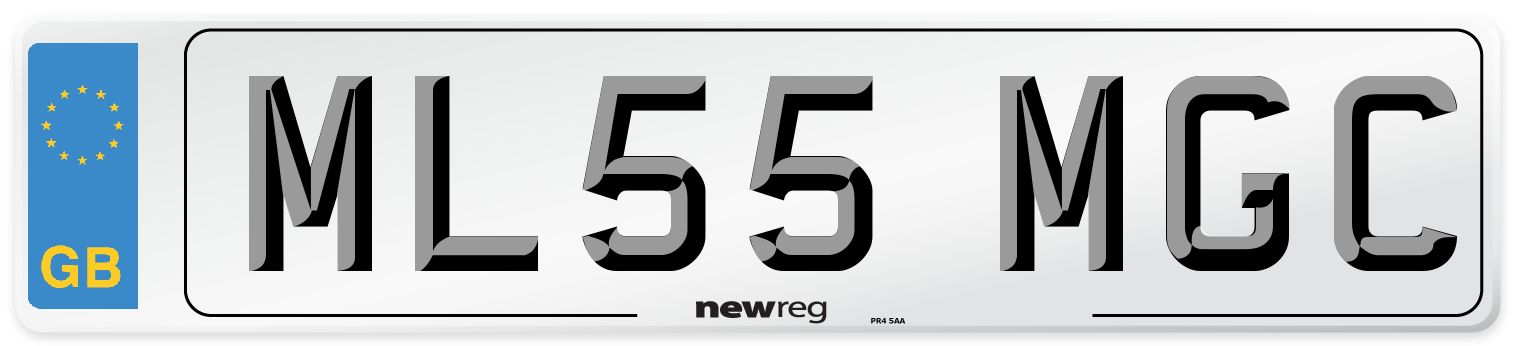 ML55 MGC Number Plate from New Reg