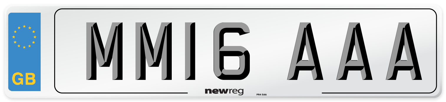 MM16 AAA Number Plate from New Reg