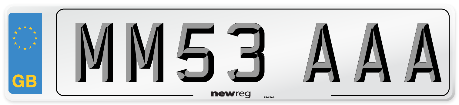 MM53 AAA Number Plate from New Reg