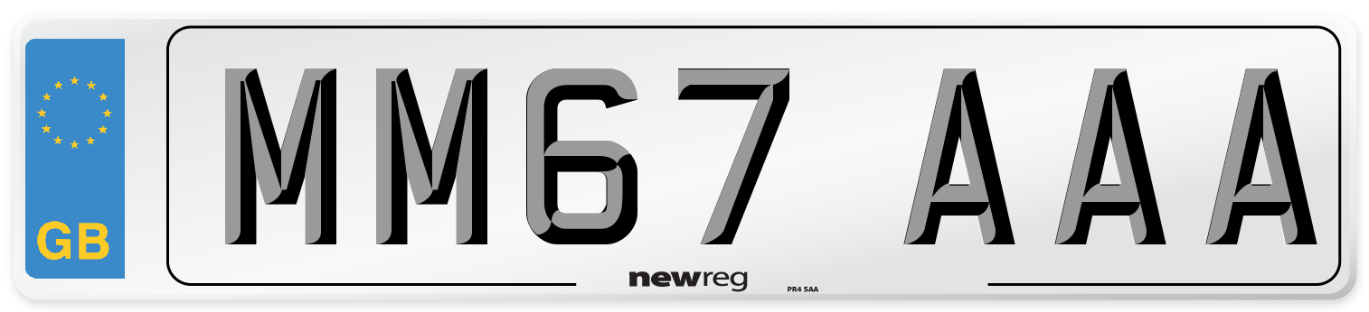 MM67 AAA Number Plate from New Reg