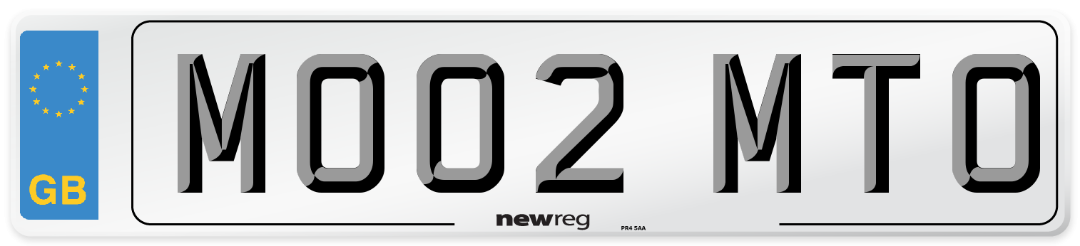 MO02 MTO Number Plate from New Reg
