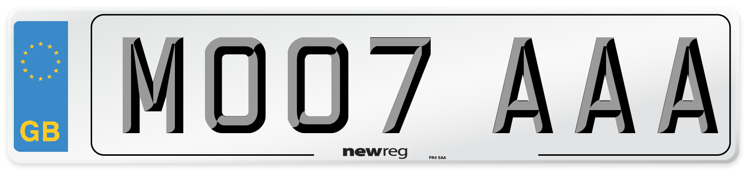 MO07 AAA Number Plate from New Reg