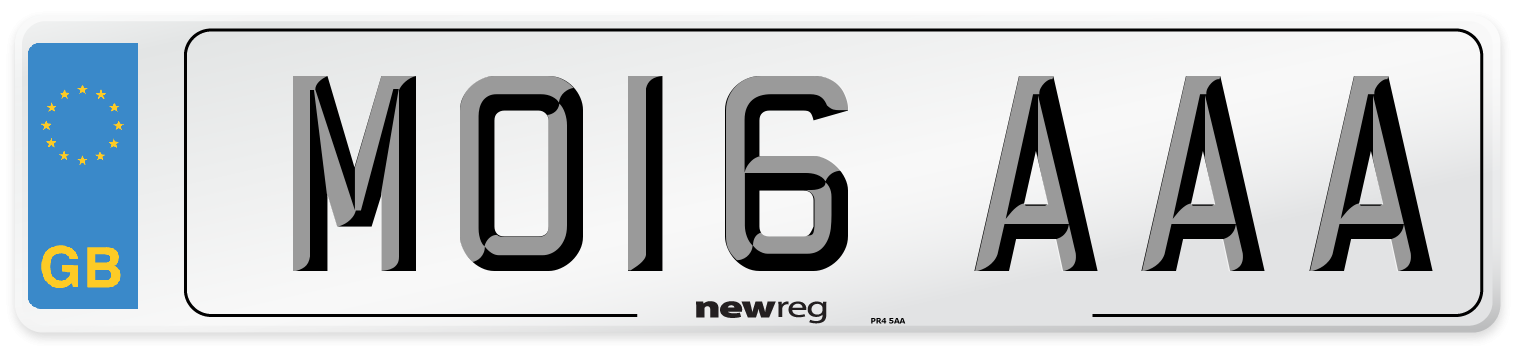 MO16 AAA Number Plate from New Reg