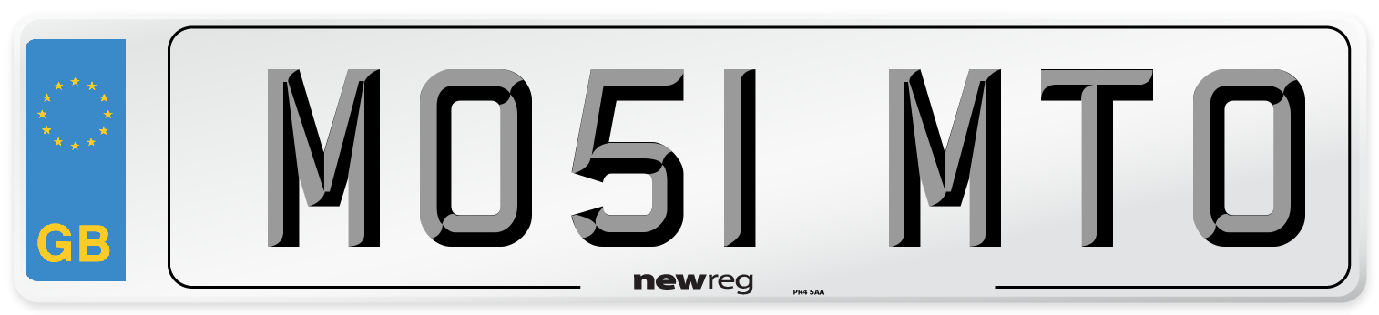 MO51 MTO Number Plate from New Reg