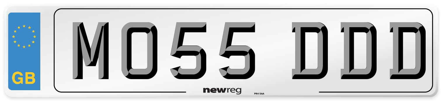 MO55 DDD Number Plate from New Reg