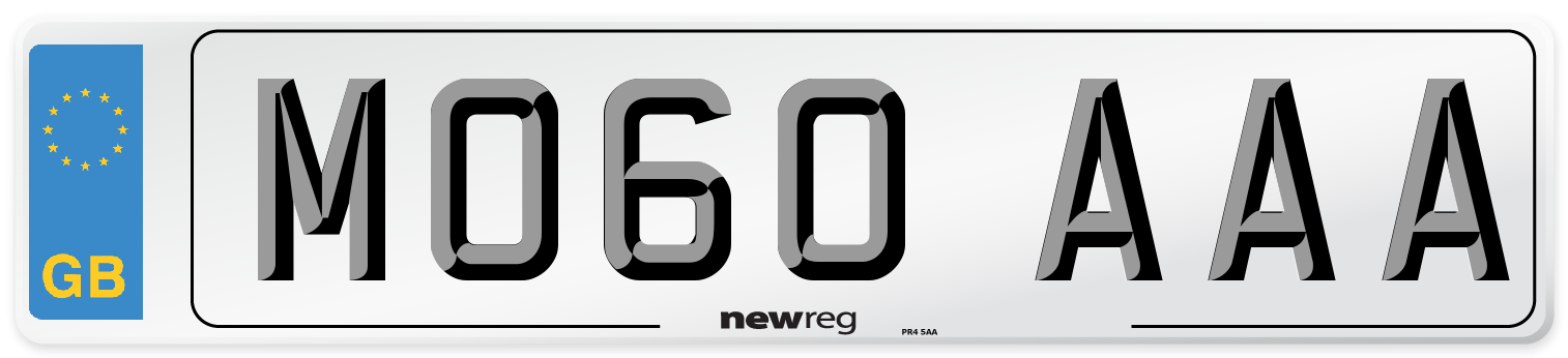 MO60 AAA Number Plate from New Reg