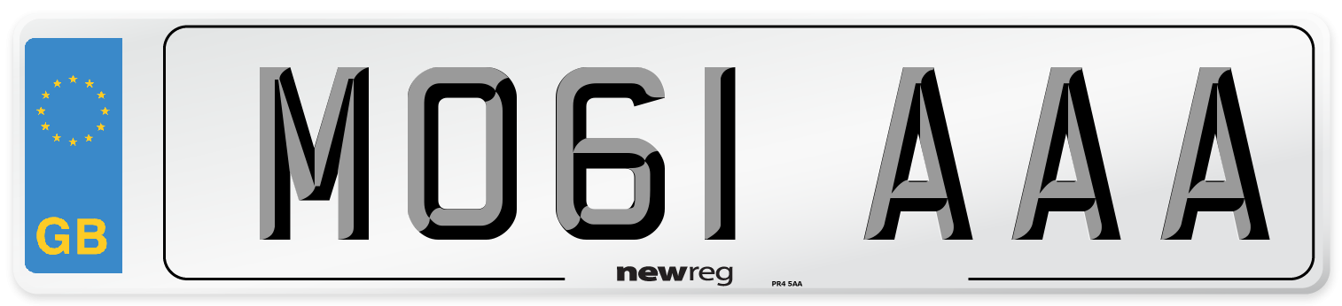 MO61 AAA Number Plate from New Reg