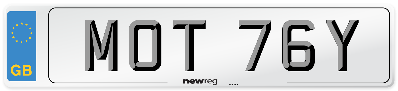 MOT 76Y Number Plate from New Reg