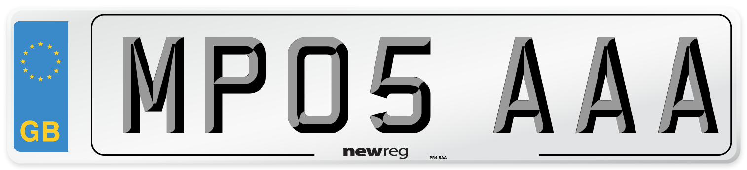 MP05 AAA Number Plate from New Reg