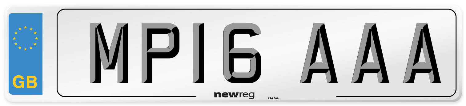 MP16 AAA Number Plate from New Reg