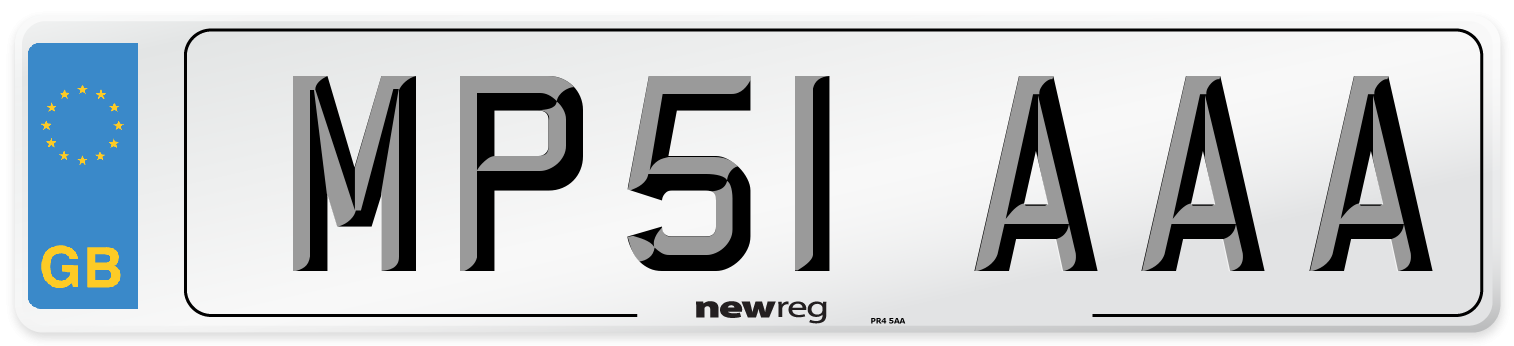 MP51 AAA Number Plate from New Reg