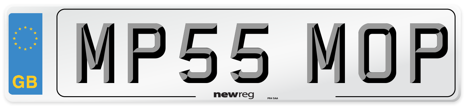 MP55 MOP Number Plate from New Reg