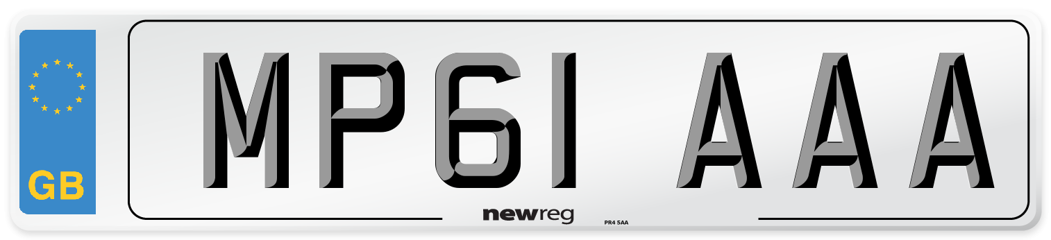MP61 AAA Number Plate from New Reg