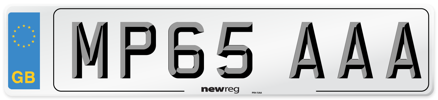 MP65 AAA Number Plate from New Reg
