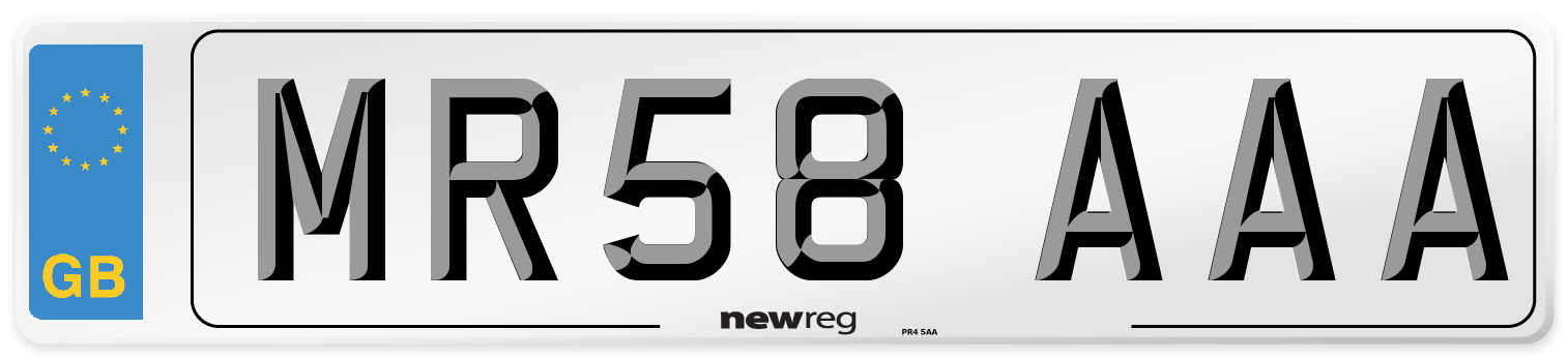 MR58 AAA Number Plate from New Reg