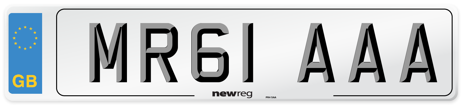 MR61 AAA Number Plate from New Reg