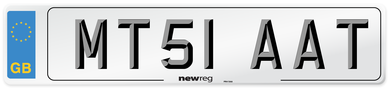 MT51 AAT Number Plate from New Reg