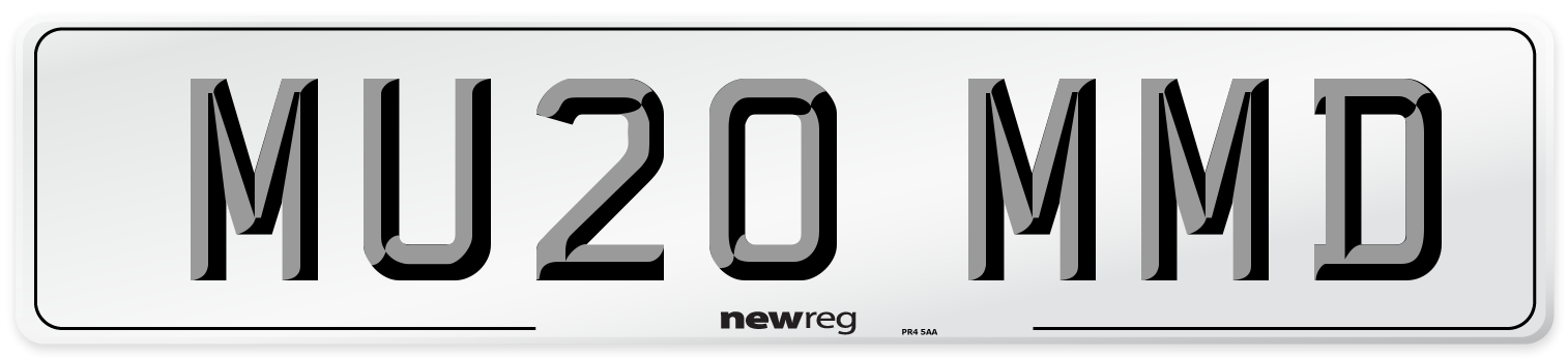 MU20 MMD Number Plate from New Reg