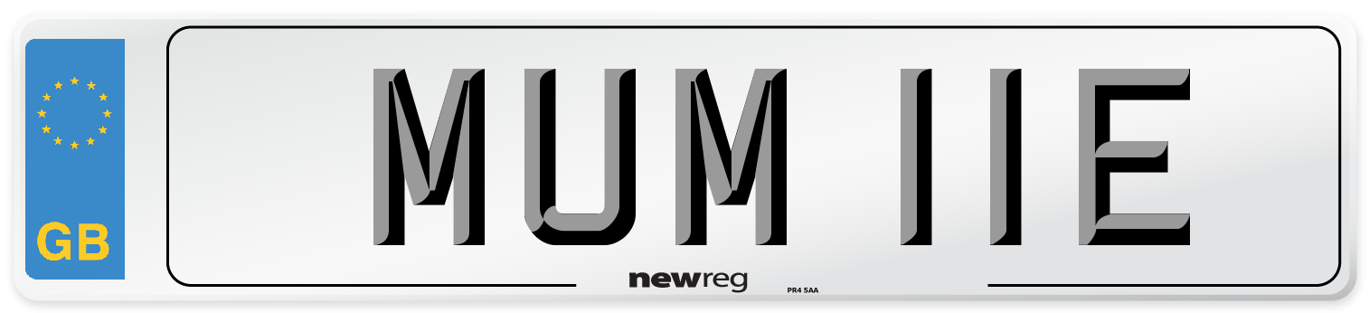 MUM 11E Number Plate from New Reg