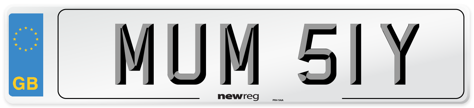 MUM 51Y Number Plate from New Reg