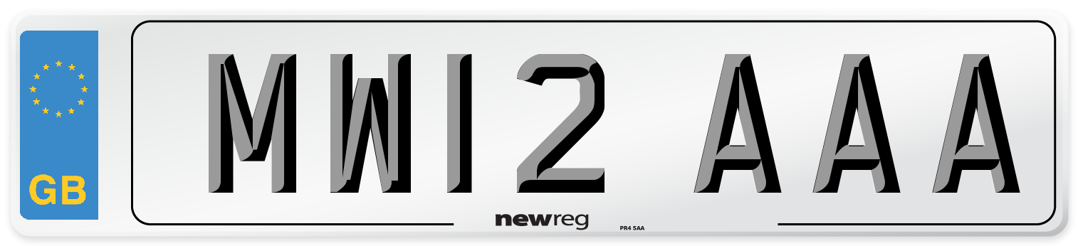 MW12 AAA Number Plate from New Reg
