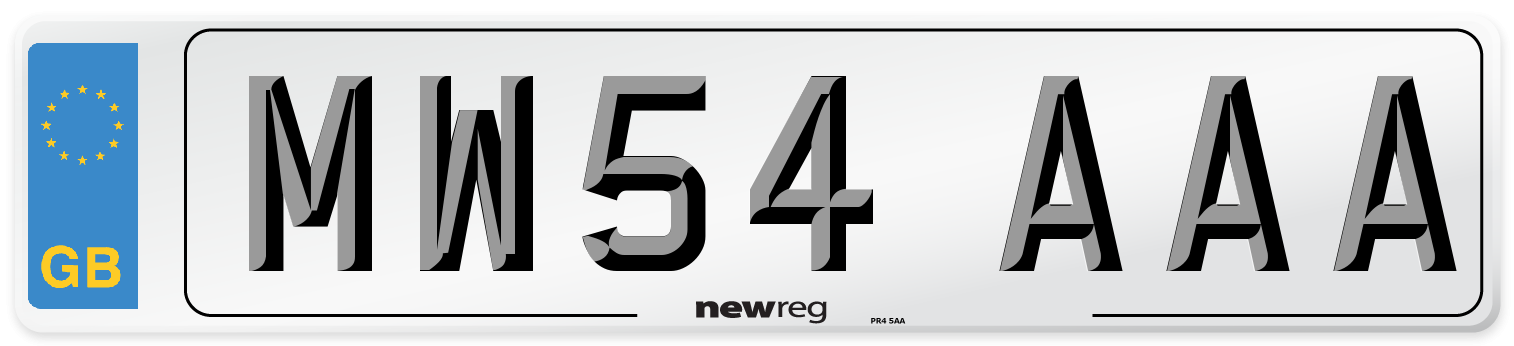 MW54 AAA Number Plate from New Reg
