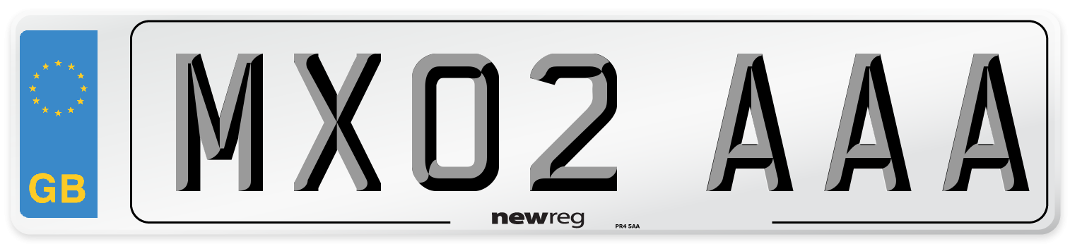 MX02 AAA Number Plate from New Reg