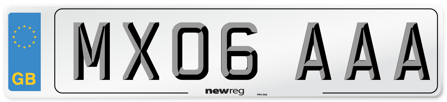 MX06 AAA Number Plate from New Reg