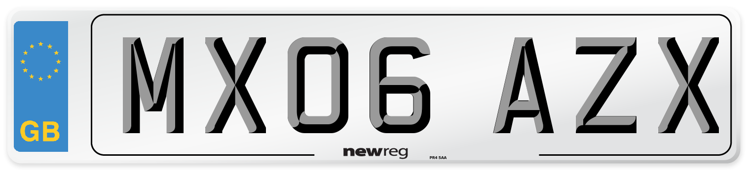 MX06 AZX Number Plate from New Reg