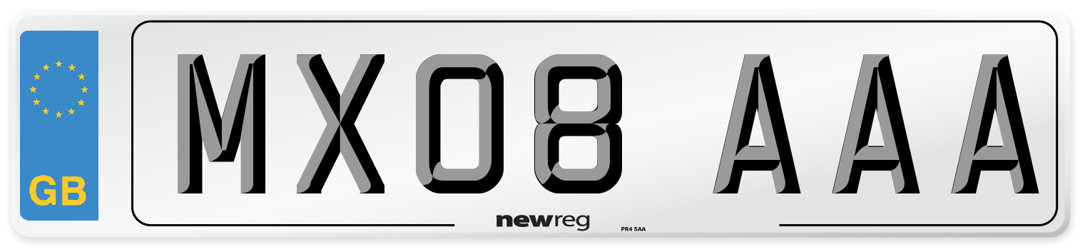 MX08 AAA Number Plate from New Reg