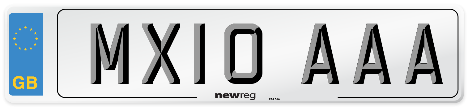 MX10 AAA Number Plate from New Reg