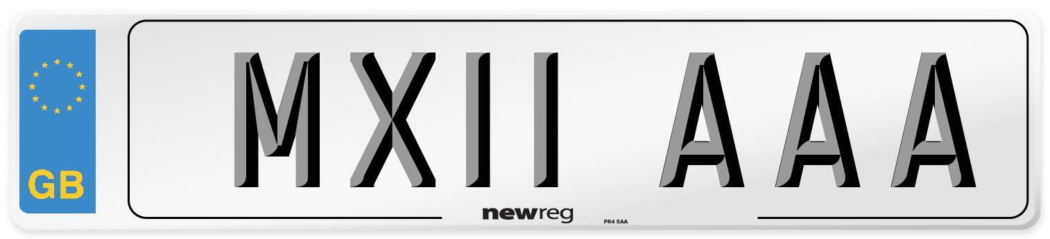 MX11 AAA Number Plate from New Reg