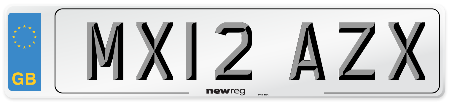 MX12 AZX Number Plate from New Reg