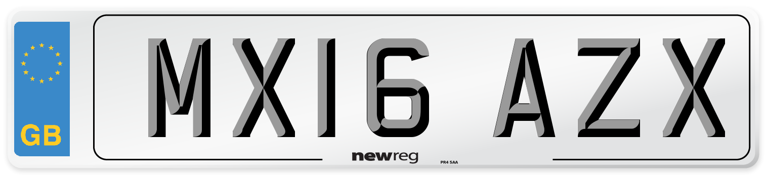 MX16 AZX Number Plate from New Reg