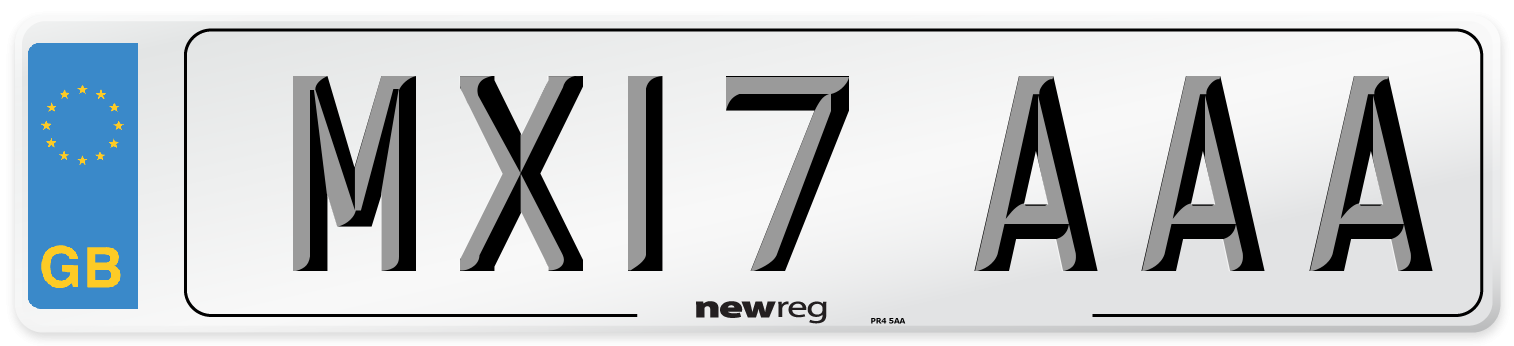 MX17 AAA Number Plate from New Reg