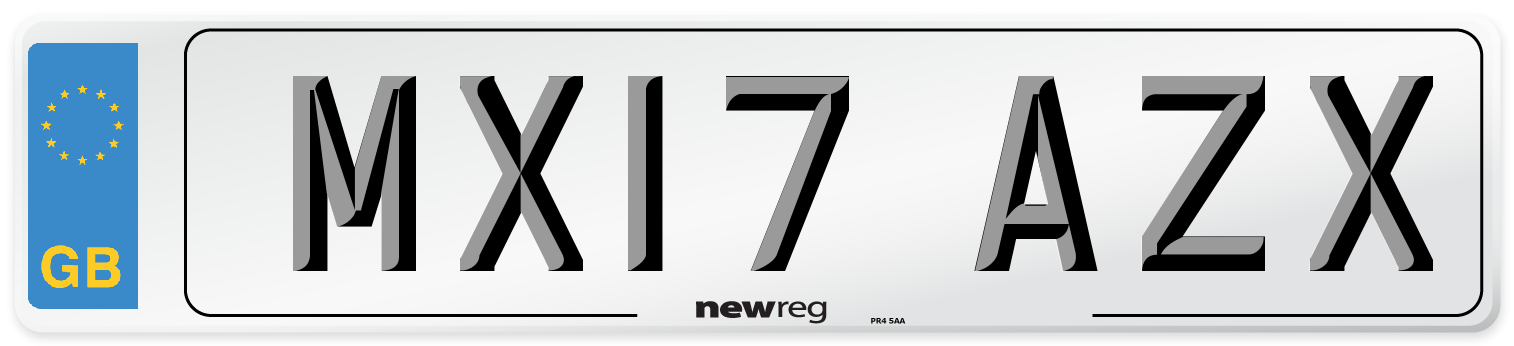 MX17 AZX Number Plate from New Reg