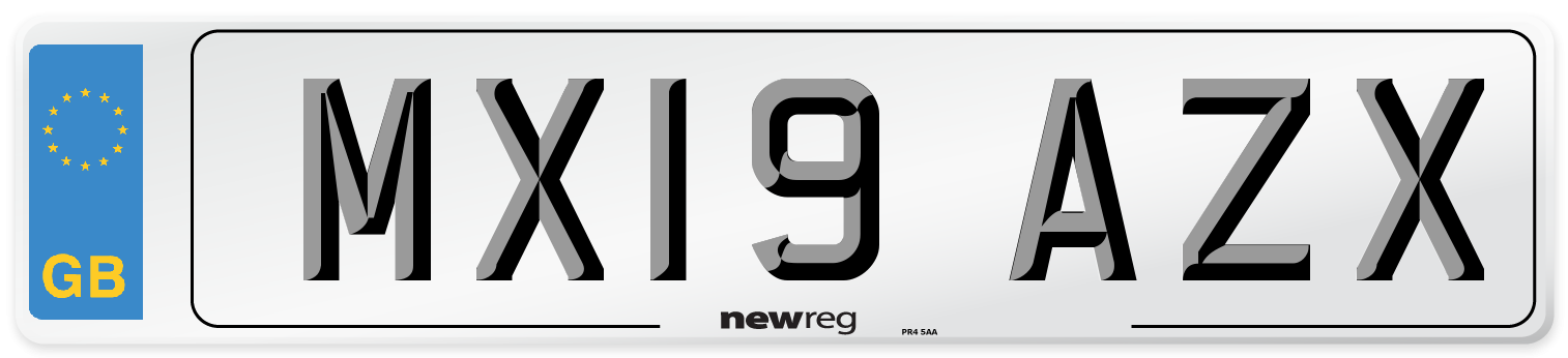 MX19 AZX Number Plate from New Reg
