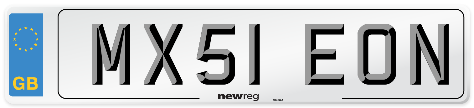 MX51 EON Number Plate from New Reg