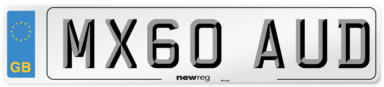 MX60 AUD Number Plate from New Reg