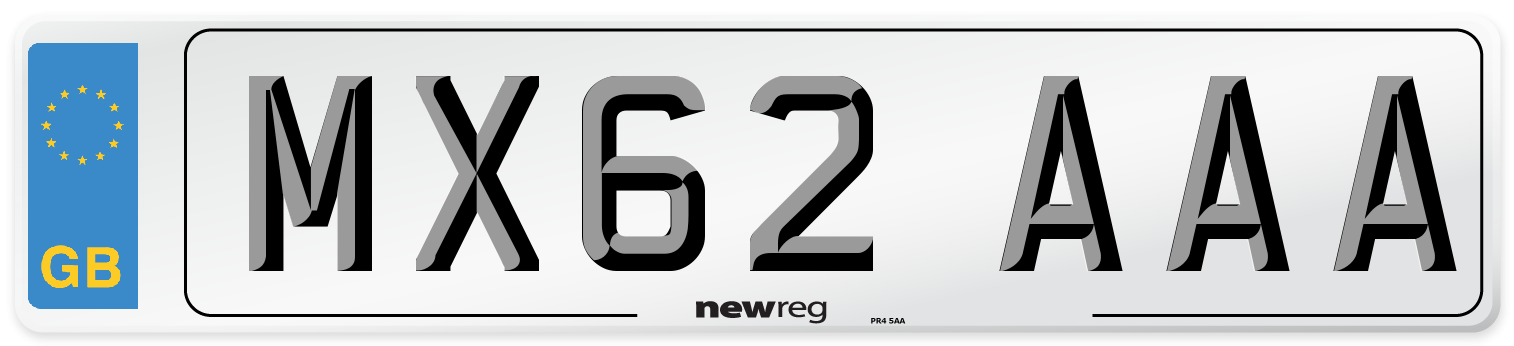 MX62 AAA Number Plate from New Reg