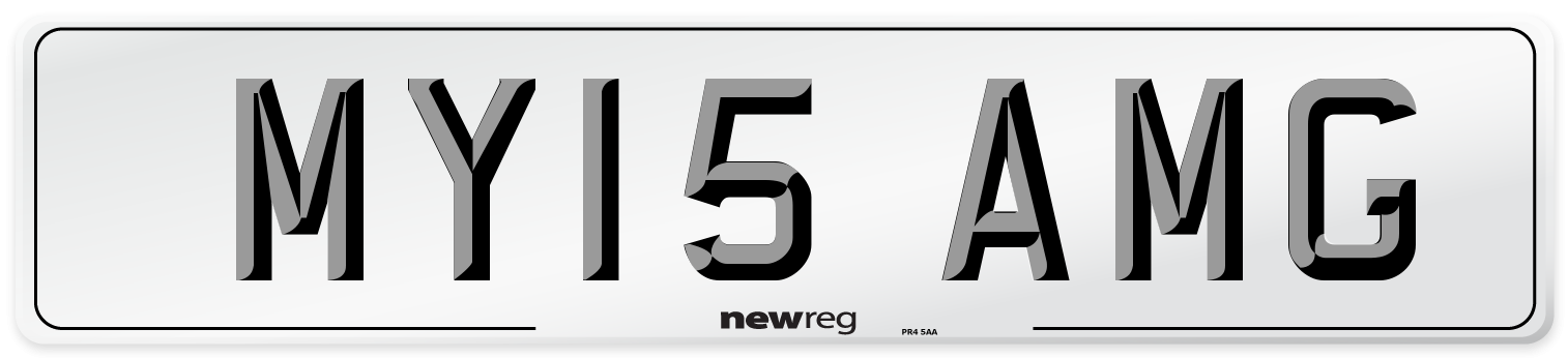 MY15 AMG Number Plate from New Reg
